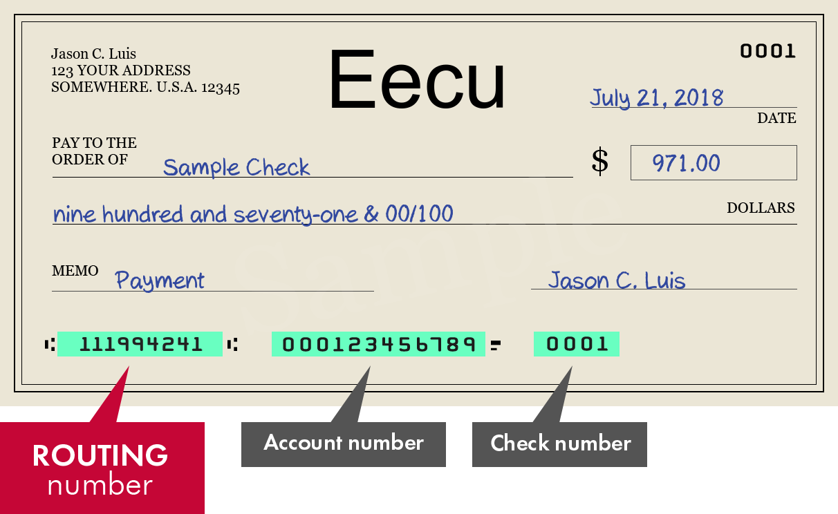 EECU Routing Number